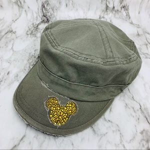 Disney world rhinestone distressed cadet hat
